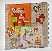 Текстурний, розвиваючий килимок з матеріалу ЕVA для малюків EVA З 44809, 4 шт в упаковці
