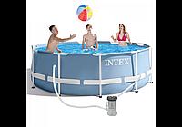 Каркасний дитячий басейн Intex 26706 NP, 305*99 см зі сходами і насосом, фото 1