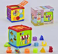 Обучающий, развивающий Куб Логический НЕ 0520 для детей от 1 года, со звуковыми и световыми эффектами, мелодии