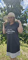 Туніка жіноча графіт. Туреччина. Nikoletta, фото 1