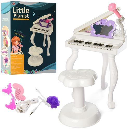 Багатофункціональний дитячий синтезатор піаніно на ніжках J93-01 з стільчиком, караоке мікрофоном та MP3