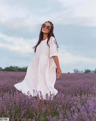Белое платье из штапеля