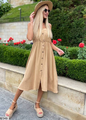 Платье мини из жатого крепа