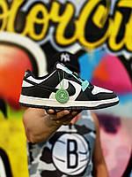 Мужские Кроссовки Nike SB Dunk Low Black White (AAA+) 44