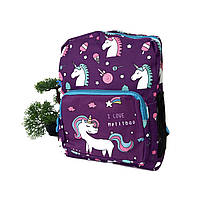 Дитячий рюкзак єдиноріг текстиль фіолетовий Арт.FM-3063 Бренд (Китай)