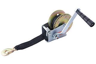 Лебедка барабанная Mastertool - 450 кг x 8 м ремень (86-8245), (Оригинал)