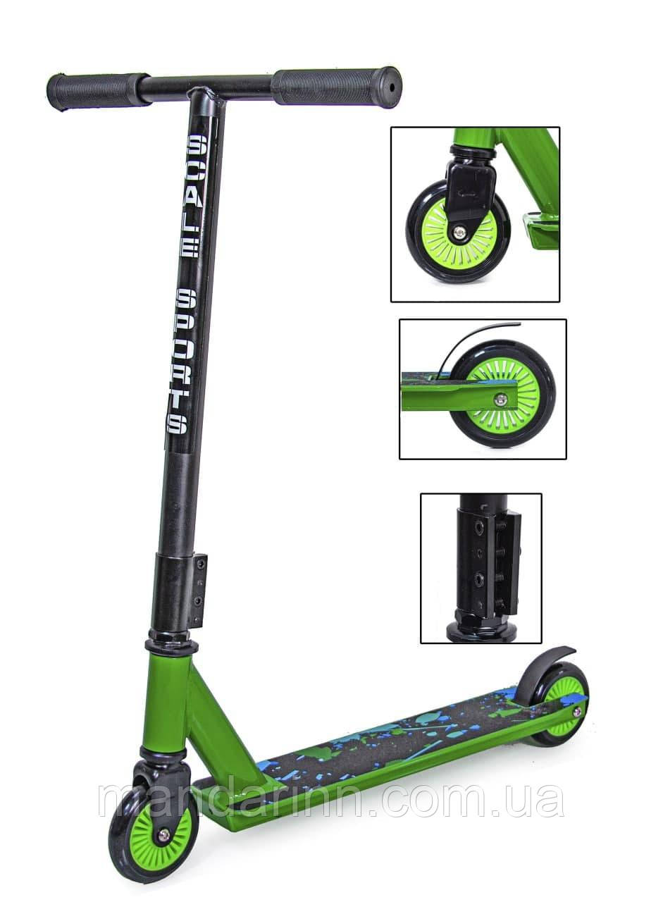 Трюковый самокат Scale Sports Turbo 100 mm Зеленый