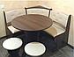 Кухонний куточок з круглим столом Пехотін Боярин Горіх/Кава, фото 3