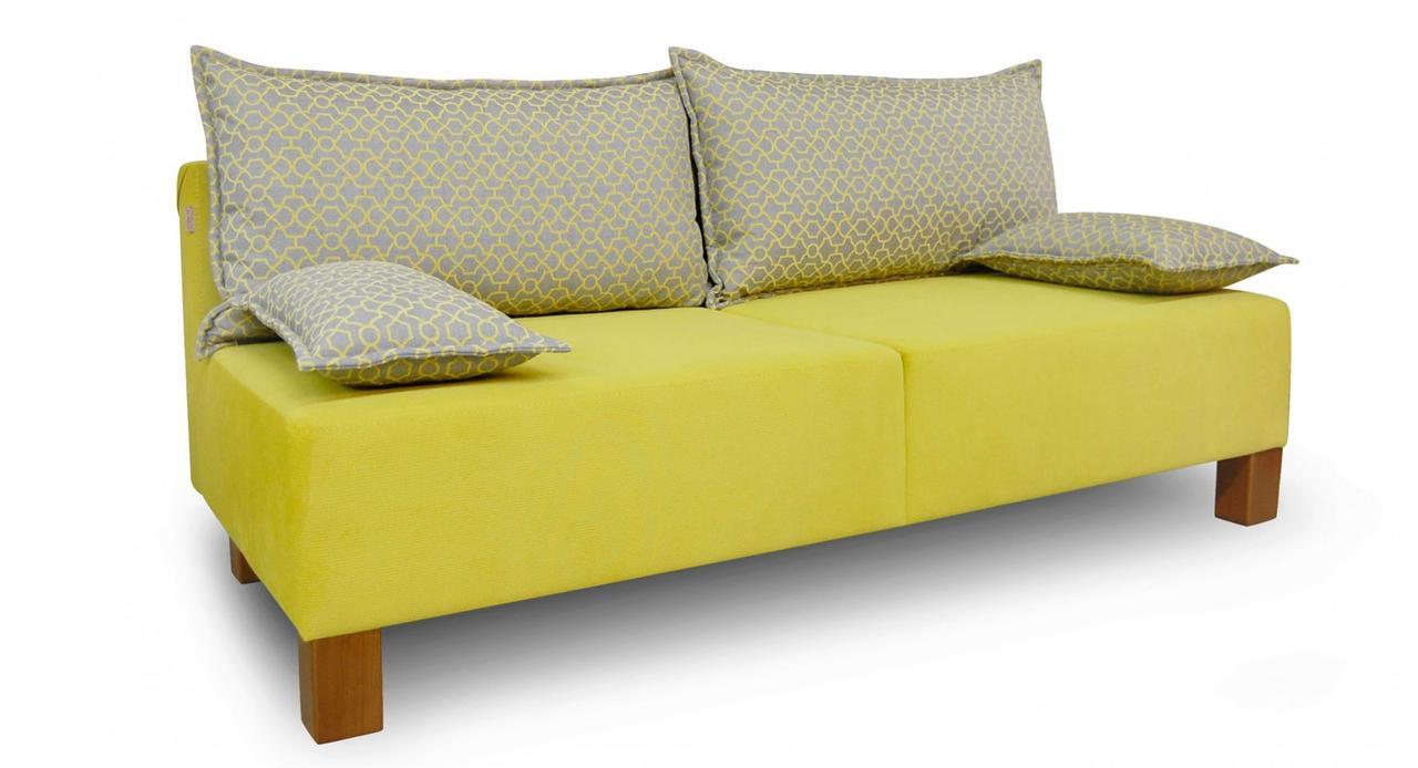 Жёлтый диван Токио без подлокотников фабрики Бис-М