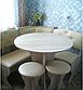 Кухонный уголок с круглым столом Пехотин Боярин Дуб молочный/Коричневый, фото 4