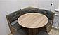 Кухонный уголок с круглым столом Пехотин Боярин Дуб молочный/Коричневый, фото 5