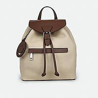 Рюкзак женский из натуральной кожи городской молочный 81096