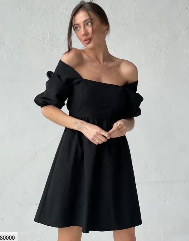 Платье мини из коттона мемори