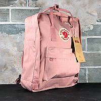 Рюкзак Fjallraven Kanken Classic рожевий 16л. Шкільні рюкзаки для підлітків Портфелі в школу для підлітків