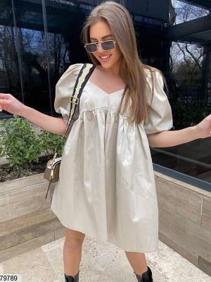 Платье мини из коттона х/б