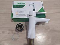 Смеситель для умывальника (рукомойника) из термопластичного пластика PLAMIX Oscar-001 White