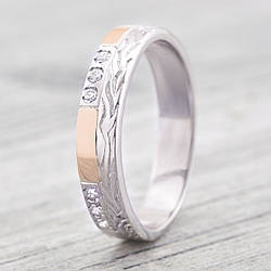 Кольцо серебряное женское с золотом ps10279r белые фианиты размер 20
