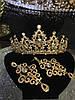 Діадема і сережки, набір, тіара, весільна біжутерія, аксесуари, фото 2
