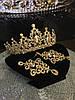 Діадема і сережки, набір, тіара, весільна біжутерія, аксесуари, фото 3