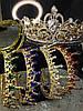 Корона кругла на голову, золота корона для волосся АЛЕКСА, фото 8