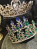 Тіара висока корона з смарагдовими камінням, фото 3