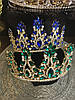 Тіара висока корона з смарагдовими камінням, фото 6