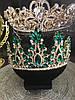 Тіара висока корона з смарагдовими камінням, фото 7