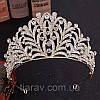 Диадема золотая, тиара красивая, корона , высокая диадема, фото 8