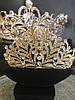 Диадема золотая, тиара красивая, корона , высокая диадема, фото 3
