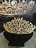Диадема золотая, тиара красивая, корона , высокая диадема, фото 4