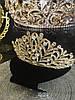 Диадема золотая, тиара красивая, корона , высокая диадема, фото 7