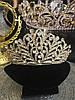 Диадема золотая, тиара красивая, корона , высокая диадема, фото 2