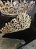 Диадема золотая, тиара красивая, корона , высокая диадема, фото 5