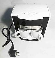 Кавоварка Domotec MS-0706 біла + 2 чашки