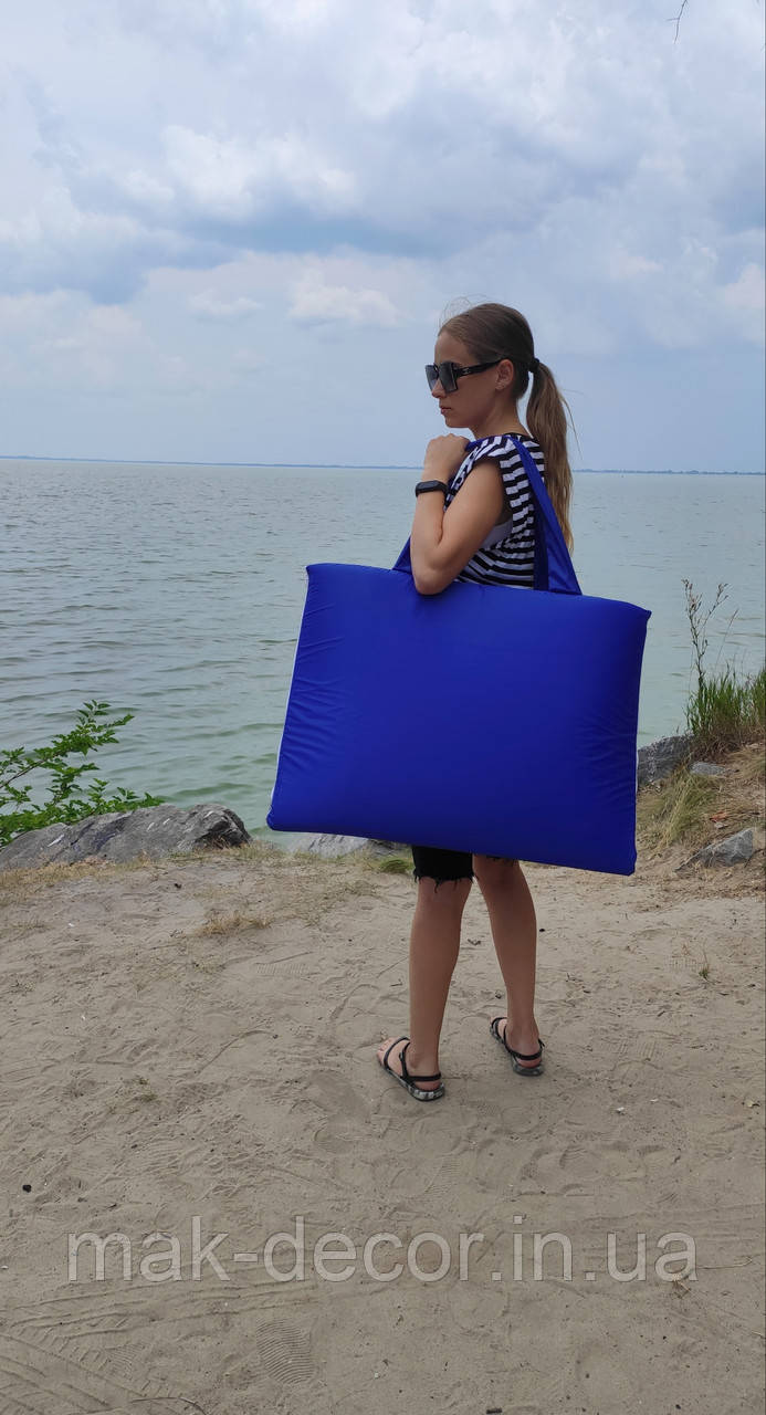 """Пляжна сумка """"Трансформер"""" на блискавці (синій)"""