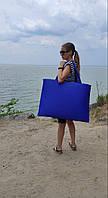 """Пляжна сумка """"Трансформер"""" на блискавці (синій), фото 1"""