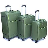 """Набір тканинних валіз Madisson, (29 """"/ 24"""" / 28 """") на 4-х колесах, оливковий, фото 1"""