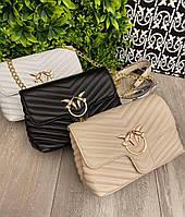 Модная женская кожаная сумка Pinko Пинко