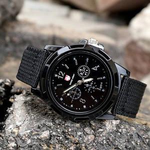 Наручний годинник Gemius Army Black Чоловічі недорогі годинник 1123-0002