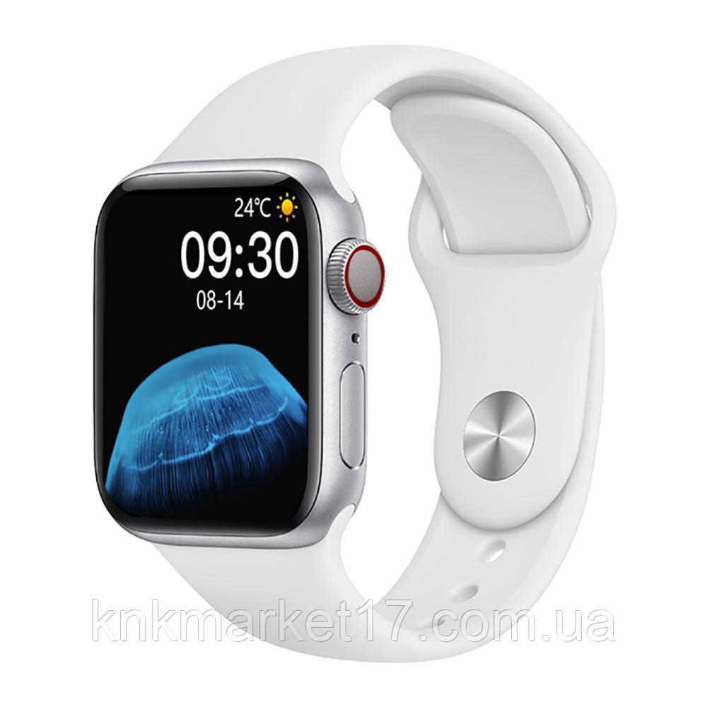Смарт годинник Modfit HW22 білий (bluetooth дзвінки, пульс, тиск)