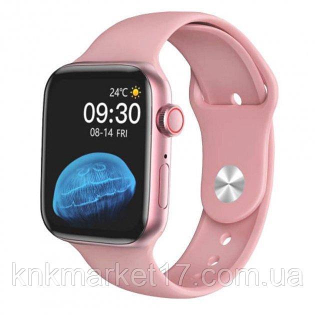 Смарт годинник Modfit HW22 рожевий (bluetooth дзвінки, пульс, тиск)