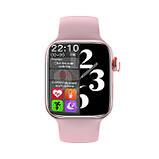Смарт годинник Modfit HW22 рожевий (bluetooth дзвінки, пульс, тиск), фото 4