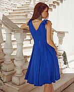 Жіноче нарядне плаття без рукавів з красивим декольте, фото 4
