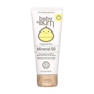 Baby Bum  Mineral SPF 50 натуральный санскрин с оксидом цинка без запаха для всей семьи 88 мл