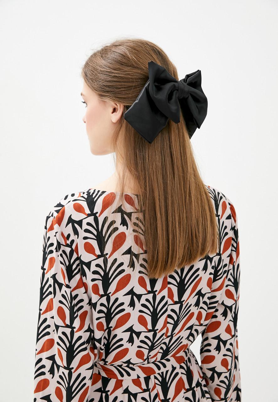 Большой черный luxury бант - украшение для волос от myscarf