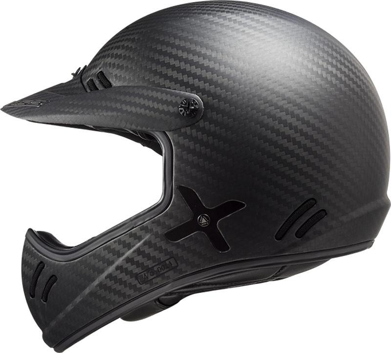 Шлем из углеродного волокна LS2 Matte Black Carbon Xtra
