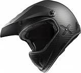Шлем из углеродного волокна LS2 Matte Black Carbon Xtra, фото 4