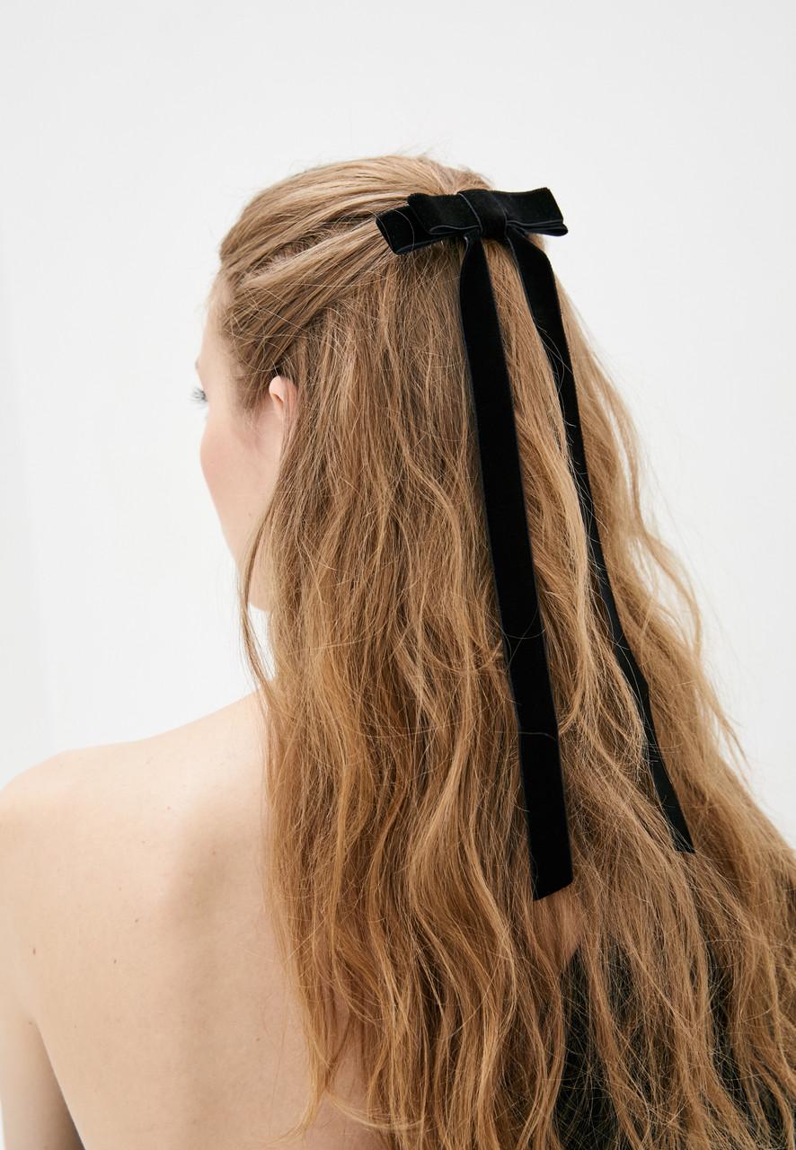Бархатный бантик - украшение для волос