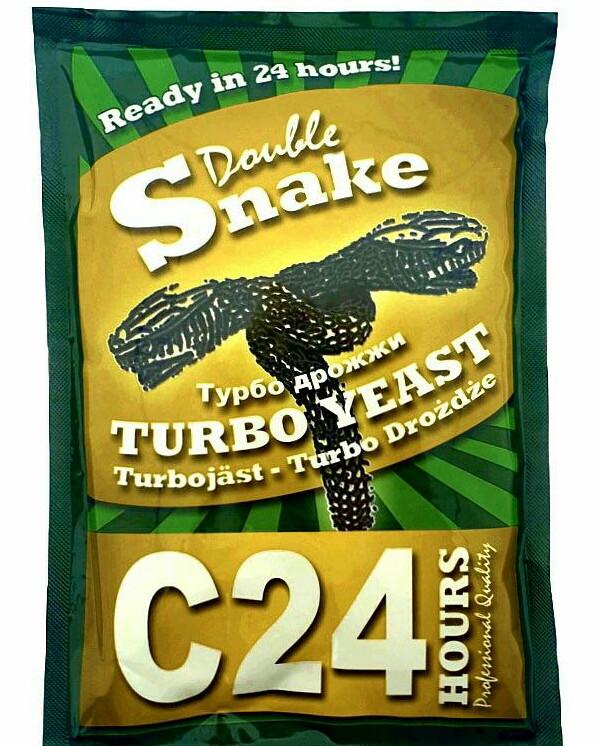 Сухие турбо дрожжи Double Snake C24