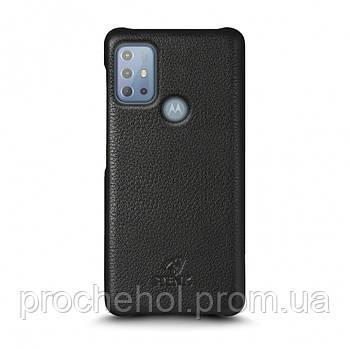 Кожаная накладка Stenk Cover для Motorola Moto G20 Чёрная